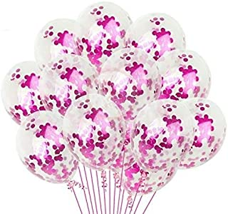 Party Propz Pack of 30 Pcs Pink confetti Balloons for Girls birthday decoration/Birthday decoration