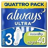 Always Ultra–Compresas noche con alas tamaño 3, 40unidades