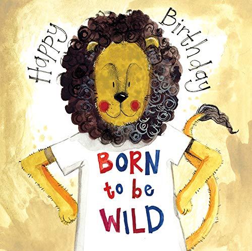Alex Clark - Tarjeta de felicitación de cumpleaños nacido para ser salvaje león