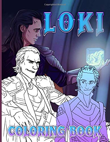 Loki Coloring Book: Relaxation Coloring Books For Adult A Fun Gift