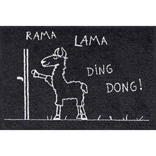 Salonloewe Fußmatte Rama Lama Ding Dong 050x075 Fußabtreter außen, Hauseingang, Schmutzfangmatte