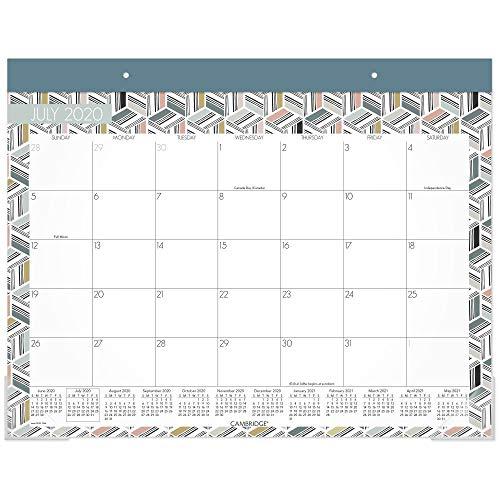 Akademischer Schreibtischkalender 2020-2021, Cambridge Schreibtisch-Kalender, 53,3 x 43,2 cm, Standard Aufsteigen