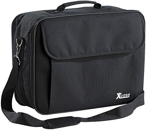 Xcase Schutztasche: Gepolsterte Beamer-Tasche Universal mit Innenteiler, Größe L (Beamertasche)