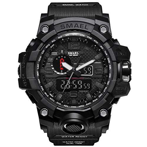 Militär Uhr Herren, Sportuhr Fit Uhr Wasserdicht Nachtleuchtende Stoppuhr Digitaluhren