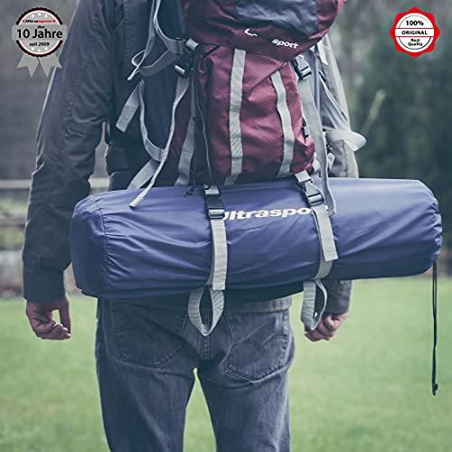 Ultrasport 330900000007, Materassino Isolante Autogonfiante, Automatico, per Tende, Outdoor, Leggero e Impermeabile, Termico in 3 Spessori Unisex-Adulto, Blu, 200 x 66 x 3 cm
