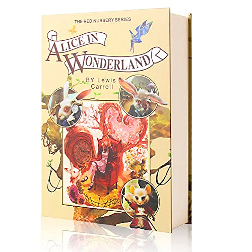 EIOUMAX Real Paper Diversion Book Safe with key Secret Box Collection Box-Alice In Wonderland