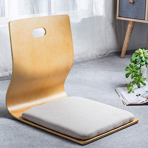 Game Chairs,Living Room Chair Japanese Legless Chair Bay Window Backrest Chair Lazy Chair Cushion,Living Room Floor Chair Lazy Sofa Game Meditation Floor Seating Floor Chairs with Back Support (Beige)