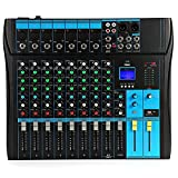 WanuigH Audio Mixer Phone Live Broadcast Sound Card Home Music Production 6 Channels Mini Audio Mixer Easy Monitoring and Operation (Color : Black, Size : One size)