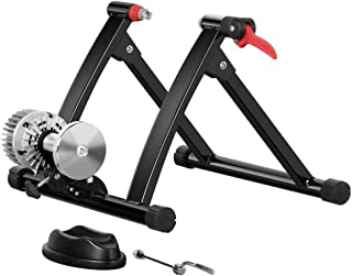 Yaheetech Steel Indoor Fluid Exercise Bike Bicycle Trainer Stand Fit for Bicycles with a Wheel of 26-28in, 700C Bike
