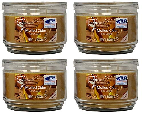 Mainstay 11.5oz Scented Candle, Mulled Cider 4-Pack