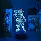 Lampada 3D Illusion Lampada da tavolo umore Luce notturna Set per S come decorazione per la decorazione della stanza per la stanza per la casa-7 colore senza telecomando