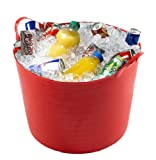 40 LITRE/LTR LARGE PARTY BUCKET/BEER/DRINKS/FLEXI/STORAGE TUB