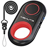 [Upgraded] Bluetooth Remote Shutter for iPhone & Android Camera Wireless Remote Control Selfie Button for iPad iPod Tablet, HD Selfie Clicker for Photos & Videos (Red)