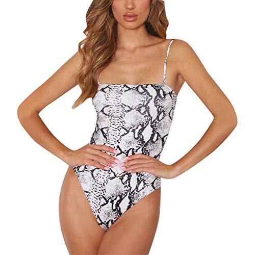ZZXIAN Bodysuit dames lange mouwen luipaard top sexy party, jumpsuit dames zomer mouwloos overall dames elegant korte broek vrouwen wit strandmode