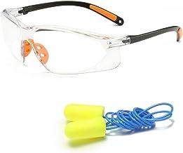 EE المضادة للضباب أمان جل - نظارات أمان للحماية - إطلاق النار جل مع سدادة الأذن هدية - واقية مضادة للخدش جل للنظارات - EE ...