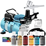 Professional Master Airbrush Cake Decorating Airbrushing System Kit with a 6 Color Chefmaster Food...