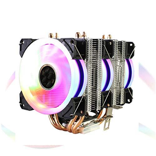 Ventilador del Enfriador de CPU, 4 Tubos de latón Ventilador 3RGB Radiador de disipador de Calor de CPU Ultra silencioso de 4 Pines, Equipado con cojinete hidráulico Duradero