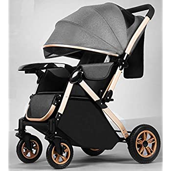 StarAndDaisy Multi-Purpose, Multi-Adjustment Stroller pram Travel Friendly, Broad seat & Bed Buggy for 0-36 Months (Grey)