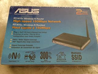 ASUS (RT-N10+) Wireless-N 150 Entry Home Router: Fast Ethernet and support upto 4 Guest SSID(Open source DDWRT support) (B003H98YK4) | Amazon price tracker / tracking, Amazon price history charts, Amazon price watches, Amazon price drop alerts