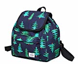 HotStyle MIETTE Mini Backpack Purse for Girls & Women, Cute Small Drawstring Bag with Flap Top, Green Christmas Tree