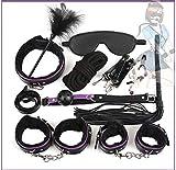 Kit sportivo in pelle nera viola Set da 10 pezzi di oggetti di scena per le feste di Natale