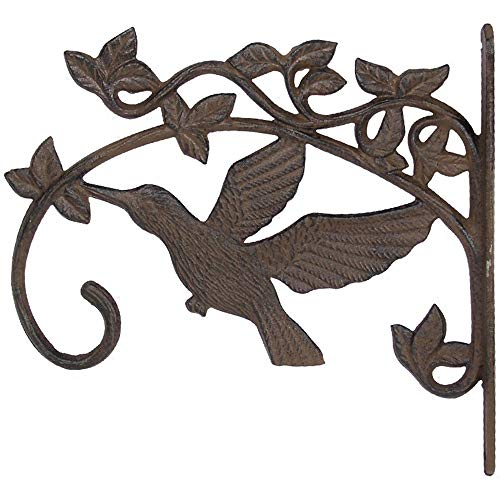 Hanging Brackets Retro Cast Iron Bird hängender Blumenkorb im Freien Innengartendekoration Pflanzen Brackets for Garten Innenhof Rasen Haken (Color : As Shown, Size : 29x26.5x2.7cm)