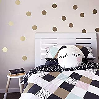 Gold Polka Dots Kids Room Baby Room Wall Stickers Children Home Decor Nursery Wall Decals Wall Stickers For Kids Room Wallpaper (Color : Light blue, Size : 4X4cm 48 pcs)