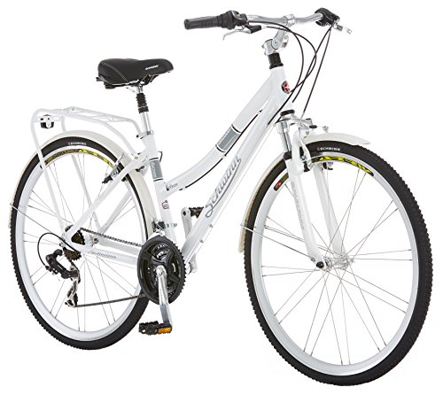 Schwinn Discover Hybrid Bike, Featuring 16-Inch/Small Aluminum Step-Through Frame with 21-Speed...