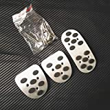 ZIMAwd Accesorios de Coche Manual MT Freno Embrague Acelerador Pedal Pedales Placas Pegatinas Pegatinas de Cubierta, para Mitsubishi Lancer