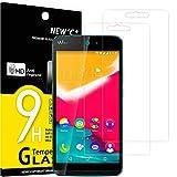 NEW'C Lot de 2, Verre Trempé Compatible avec Wiko Rainbow Jam 4G, Film Protection écran sans Bulles d'air Ultra Résistant (0,33mm HD Ultra Transparent) Dureté 9H Glass