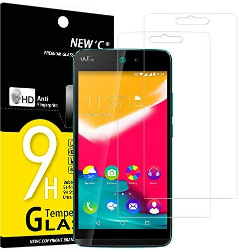 NEW'C 2 Stück, Schutzfolie Panzerglas für Wiko Rainbow Jam 4G, Frei von Kratzern, 9H Festigkeit, HD Bildschirmschutzfolie, 0.33mm Ultra-klar, Ultrawiderstandsfähig