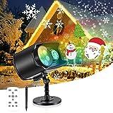 Luces Proyector de Halloween y Navidad, AGPTEK Decoración Luz de Proyector Exterior Impermeable con Diapositivas Incorporado, Control Remoto, para Regalos, Festivos, Fiestas