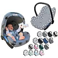 Original DOOKY BabyFit ** Funda universal para sistema de cinturón de 3 y 5 puntos ** Cochecito de bebé, silla de coche como, por ejemplo, para Maxi-Cosi, Cybex, etc. gris gris claro