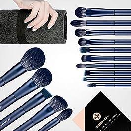 Makeup Brushes Sets, 15 Pcs Essential Vegan Makeup Brushes, Handicraft Quality Makeup Brush Set Includs 7 Pcs Vital Eyeshadow Brush Sets, Brush of Powder, Blush, Foundation, Crease, Highlight etc