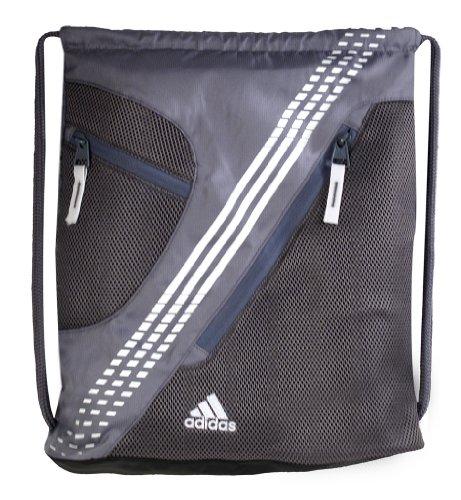 adidas Revel 5131042 Duffle Bag,Lead/White,One Size