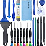 Warmstor 22 Pieces Premium Opening Pry Tool Screwdriver Set Repair Kit for iPhone 12 11 Pro Max/XS/XR/X/8 Plus/7 Plus/6S 6 Plus/5/4,iPad Pro/Air/Mini,iPod,Samsung Galaxy Note 10 20 S20 Ultra and More