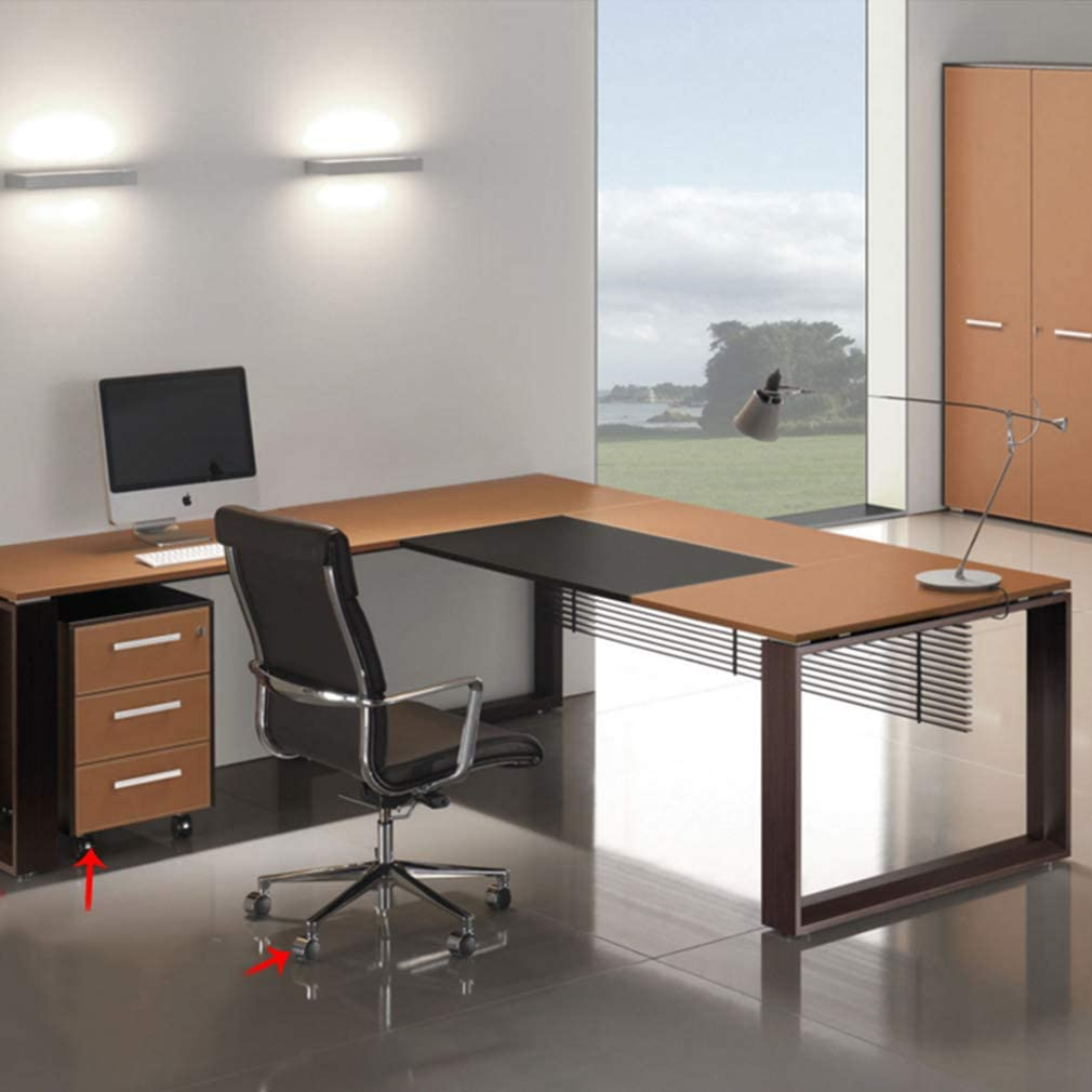 Geovne Furniture Casters,Office Chair Wheels 1.5//2 Caster Wheels with Screws Brake + No Brake