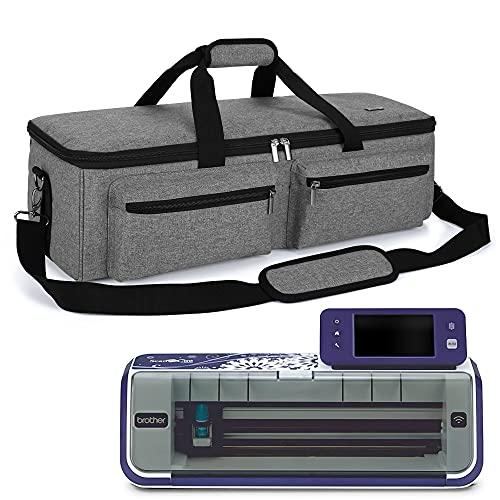 Luxja Plotter Bolsa de Transporte, Bolsa de Almacenamiento Compatible con Brother Hobby Plotter CM900, Bolsa de Viaje para Máquina Cortado, Maleta para Plotter Brother y Accesorios, Gris
