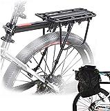 Malayas Portapacchi Bici, Bicicletta Posteriore Rack in Alluminio Ciclismo Reggisella Rack Mountain Bike MTB Portapacchi con Riflettore