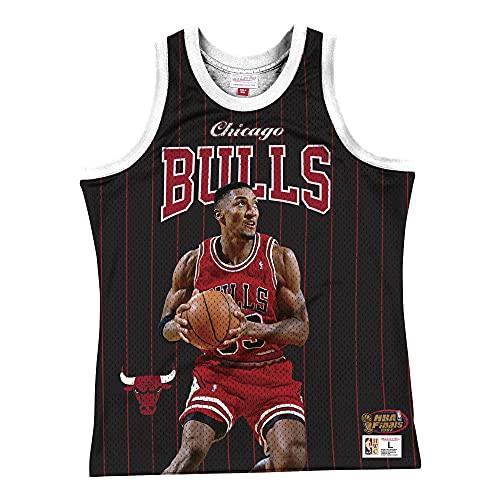Mitchell & Ness NBA Sublimated Player - Camiseta de tirantes, Chicago Bulls - Mochila, XXL
