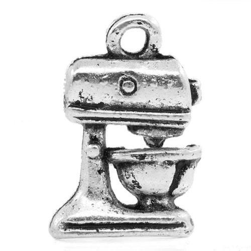 Tibetano Frullatore Ciondolo/Pendente Argento Antico 16mm Pacco Di 12