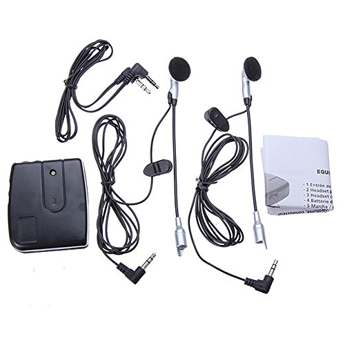 Majome Accesorios de Sistema de comunicación de Auriculares de intercomunicador de Casco de Moto Motocicleta 2 vías
