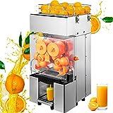 VBENLEM 110V Commercial Orange Juicer Machine, Automatic Feeding 120W, 20-30 Oranges Per Minute,...