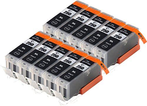 Blake Printing Supply 10 Big Black Compatible Ink Cartridges for PIXMA MG7520