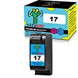 YATUNINK Remanufactured Ink Cartridge Replacement for HP 17 Tri-Color Ink Cartridge Compatible for HP DeskJet 825 825C 825Cvr DeskJet 840 840C DeskJet 841 841C 842 842C 843 843C 845 Printer (1 Pack)