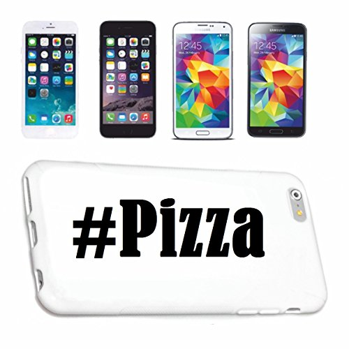 Reifen-Markt Hard Cover - Funda para teléfono móvil Compatible con Apple iPhone 5 / 5S Hashtag #Pizza en Red Social Diseño