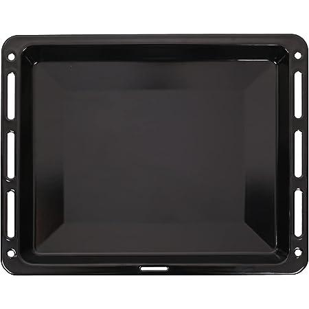 ICQN Plaque à pâtisserie 460 x 375 x 30 mm de profondeur | Lèchefrite émaillée pour four et cuisinière | Convient pour Bosch Siemens Neff Constructa | Résistant aux rayures et inoxydable | 46x37,5cm