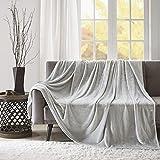 SCM Flauschige Kuscheldecke mit Premium Cashmere Feeling, hochwertige Wohndecke XXL super weiche & kuschelige Decke als Tagesdecke Bettüberwurf Sofadecke für Couch, Silber Grau 200x240cm