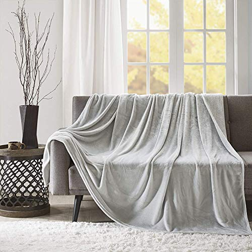 Kuscheldecke XL Silber Grau Wohndecke 280GSM Tagesdecke Decke Flauschig Weich und Angenehm Warm Überwurf Sofadecke mit Premium Cashmere Feeling, 150x200cm