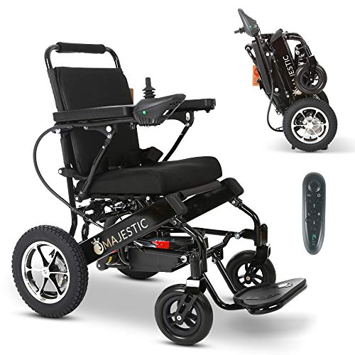 Reclining Folding Ultra Lightweight Electric Power Wheelchair 500W Motor, Airline Approved and Air Travel Allowed, Heavy Duty, Mobility Motorized, Portable Wheel Chair